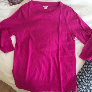 J.Crew 100% merino wool pink sweater, large